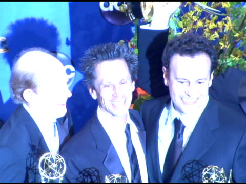 Ron Howard Brian Grazer and Mitchell Hurwitz Executive Producers of 'Arrested Development' winner of Outstanding Comedy Series at the 2004 Primetime...