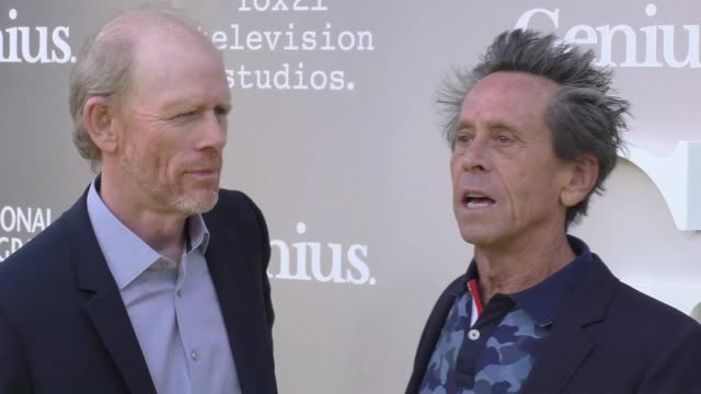 ron howard & brian grazer at the premiere of national geographic's 'genius' on april 24, 2017 in los angeles, california. - genius stock videos & royalty-free footage