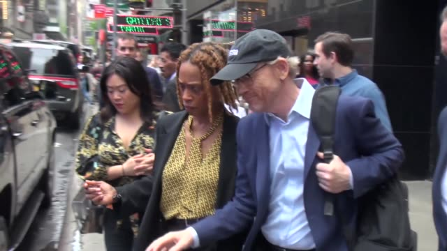 Ron Howard director of 'Solo A Star Wars Story' leaving 'Good Morning America' and later walking in Times Square in New York City at Celebrity...