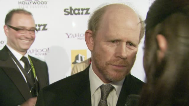 vídeos de stock, filmes e b-roll de ron howard on the event at the 12th annual hollywood film festival hollywood awards gala at los angeles ca - ron howard