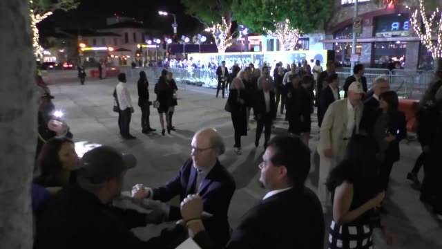 ron howard outside the genius premiere at fox bruin theater in westwood in celebrity sightings in los angeles - bruin theater stock-videos und b-roll-filmmaterial