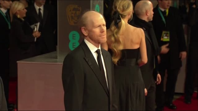 ron howard poses for photographers at the baftas 2014 - 2014 stock videos & royalty-free footage