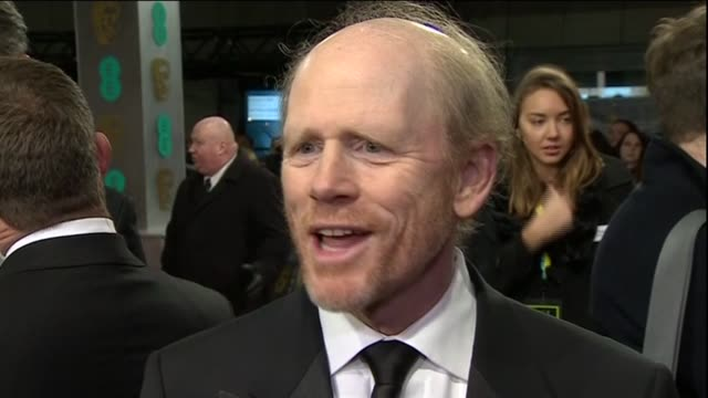 ron howard speaks about rush during red carpet interview at the baftas 2014 - 2014 stock videos & royalty-free footage