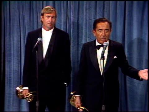Ron Hutchinson at the 1989 Emmy Awards Backstage at the Pasadena Civic Auditorium in Pasadena California on September 17 1989