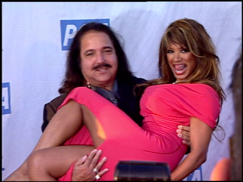 ron jeremy and traci bingham at the peta's 25th anniversary gala and humanitarian awards show at paramount studios in hollywood california on... - 25th anniversary stock videos & royalty-free footage