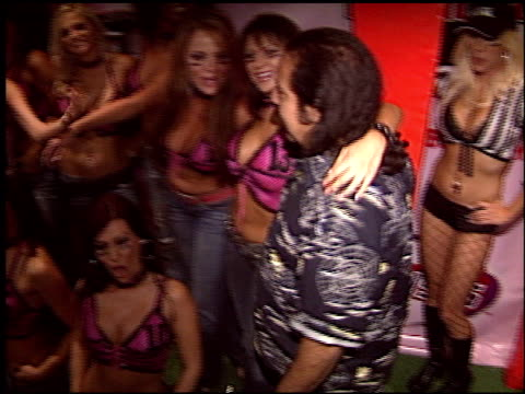 ron jeremy at the lingerie bowl party at cabana club in hollywood california on september 14 2005 - lingerie stock videos & royalty-free footage