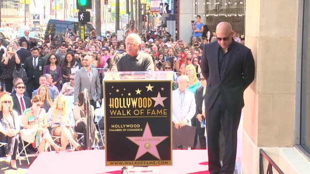speech ron meyer on knowing and working with vin diesel at vin diesel honored with star on the hollywood walk of fame speech ron meyer on knowing and... - vin diesel stock videos and b-roll footage