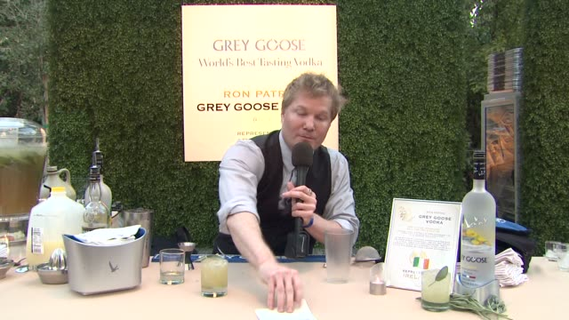 ron patric on what he prepared for the evening at a taste of the world presented by breeders' cup grey goose vodka on 11/2/2012 in pasadena ca - grey goose vodka stock videos & royalty-free footage