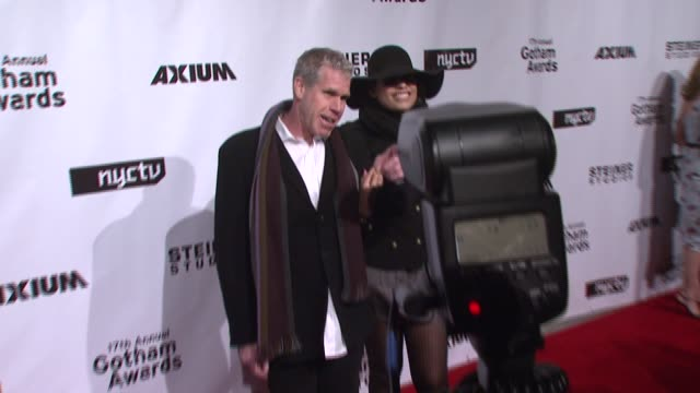 ron perlman and blake perlman at the 17th annual gotham awards presented by ifp at steiner studios in brooklyn, new york on november 27, 2007. - independent feature project stock videos & royalty-free footage