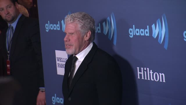 ron perlman at the 26th annual glaad media awards at the beverly hilton hotel on march 21 2015 in beverly hills california - the beverly hilton hotel stock videos & royalty-free footage