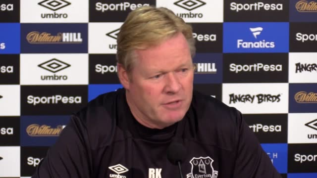 Ronald Koeman speaks ahead of his side's Premier League clash with Burnley at Goodison Park