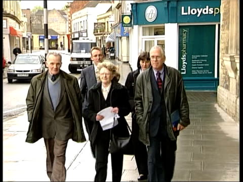 Nerve gas inquest ITN ENGLAND Wiltshire Trowbridge Lillias Craik and family towards with statement