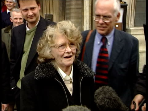 Nerve gas inquest ITN ENGLAND Wiltshire Trowbridge EXT Lillias Craik out of court and comments SOT pleased as punch i/c