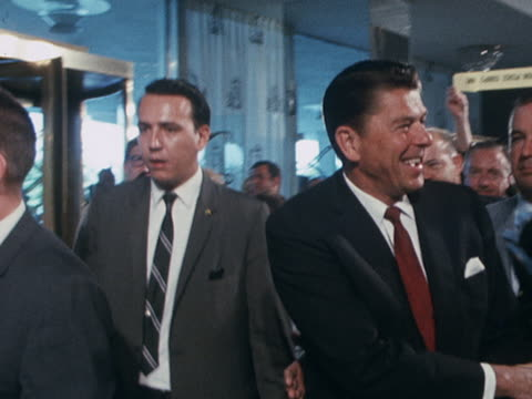 ronald reagan arrives at the republican party convention in miami - bodyguard stock videos & royalty-free footage