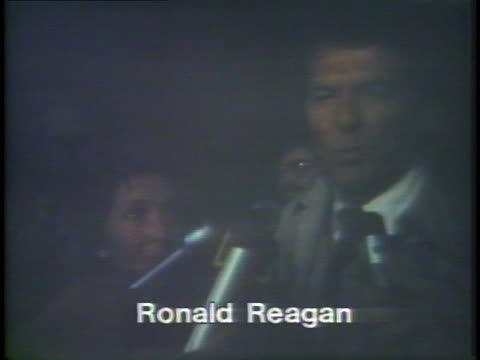 vidéos et rushes de ronald reagan, running as a 1976 presidential candidate, says that his campaign is going very well and will continue. - âge humain