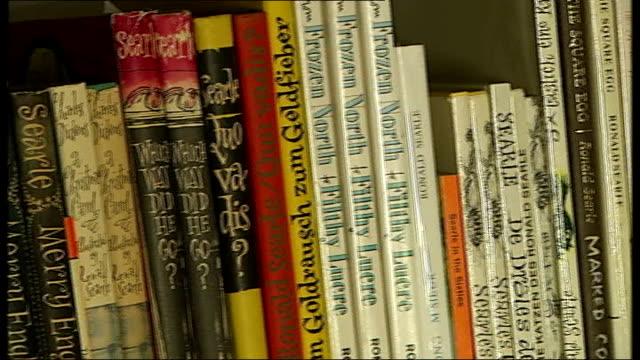 ronald searle books on shelf - ronald searle stock videos & royalty-free footage