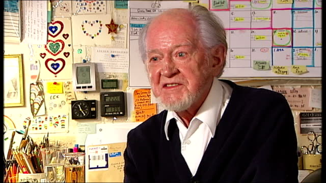 ronald searle interview sot - ronald searle stock videos & royalty-free footage