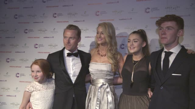 ronan and storm keating and family at emerald's ivy ball at emerald's ivy ball at victoria embankment gardens on december 05 2015 in london england - ronan keating stock videos & royalty-free footage