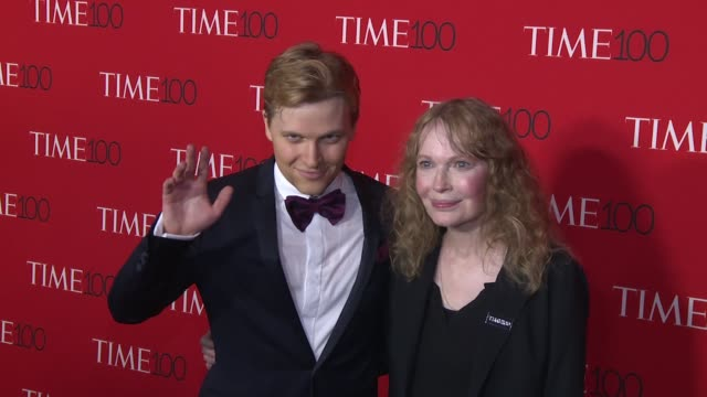 ronan farrow and mia farrow at 2017 time 100 gala at jazz at lincoln center on april 25 2017 in new york city - mia farrow stock videos & royalty-free footage