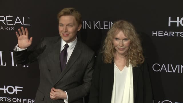ronan farrow and mia farrow at elle's 25th annual women in hollywood celebration presented by l'oreal paris hearts onfire and calvin klein on october... - mia farrow stock videos & royalty-free footage