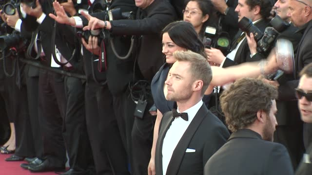 ronan keating and laura michelle kelly at killing them softly premiere: 65th cannes film festival on may 22, 2012 in cannes, france - ローナン・キーティング点の映像素材/bロール