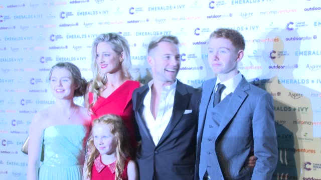 ronan keating at emeralds and ivy ball at old billingsgate market on november 30 2013 in london england - ronan keating stock videos & royalty-free footage