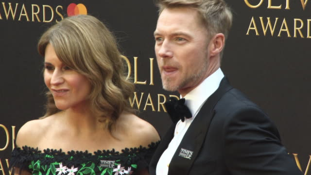 ronan keating at the olivier awards with mastercard at royal albert hall on april 08, 2018 in london, england. - ronan keating stock videos & royalty-free footage