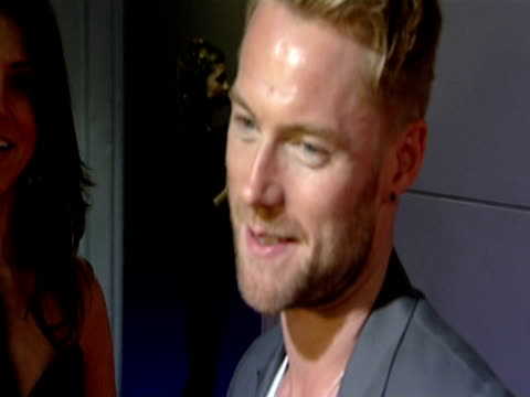 ronan keating at the the brit awards 2010 at london england. - ronan keating stock videos & royalty-free footage