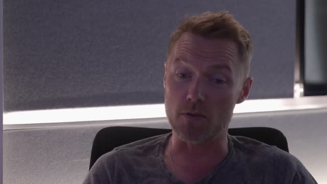 ronan keating discusses his new magic radio breakfast show and the upcoming boyzone album and world tour - ronan keating stock videos & royalty-free footage