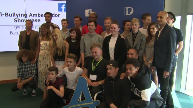 ronan keating, joe swash, lee ryan, gemma oaten, jordan & perri at diana awards showcase event on 9th july 2015 in london, england. - ronan keating stock videos & royalty-free footage
