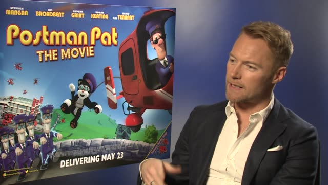 interview ronan keating on coming onboard and keeping to the core values at ronan keating interview 'postman pat' at odeon west end on may 9 2014 in... - ronan keating stock videos & royalty-free footage