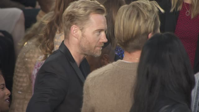 ronan keating on frow at julien macdonald ss16 at smithfields market on september 19 2015 in london england - ronan keating stock videos & royalty-free footage