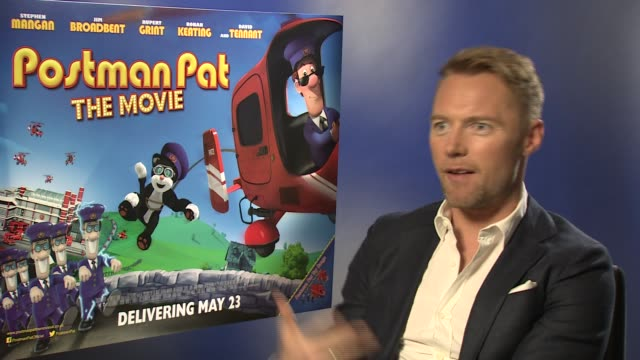 interview ronan keating on katie price and becoming an actor at ronan keating interview 'postman pat' at odeon west end on may 9 2014 in london... - ronan keating stock videos & royalty-free footage