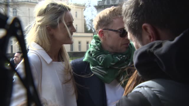 ronan keating storm keating at burberry prorsum a/w 2015at kensington gardens on february 23 2015 in london england - ronan keating stock videos & royalty-free footage
