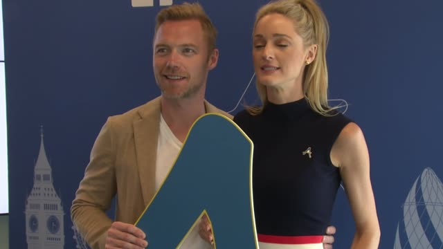 ronan keating & storm keating at diana awards showcase event on 9th july 2015 in london, england. - ronan keating stock videos & royalty-free footage