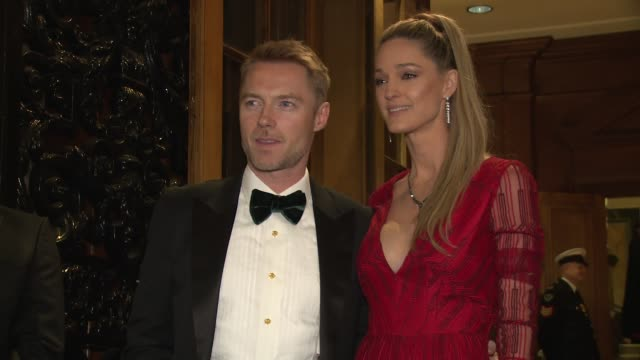 ronan keating, storm keating at goldsmiths' hall on november 15, 2017 in london, england. - ronan keating stock videos & royalty-free footage