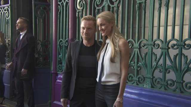 ronan keating storm keating at julien macdonald ss16 at smithfields market on september 19 2015 in london england - ronan keating stock videos & royalty-free footage