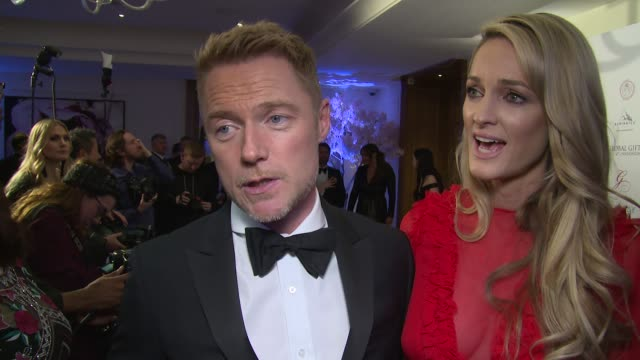 ronan keating storm keating on eva longoria's enthusiasm and the charity at corinthia hotel london on november 19 2017 in london england - ronan keating stock videos & royalty-free footage