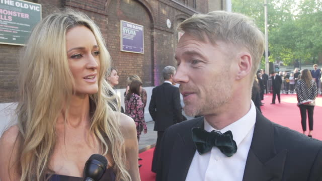 ronan keating, storm keating on the old vic making it to 200 years at the old vic theatre on may 13, 2018 in london, england. - ronan keating stock videos & royalty-free footage