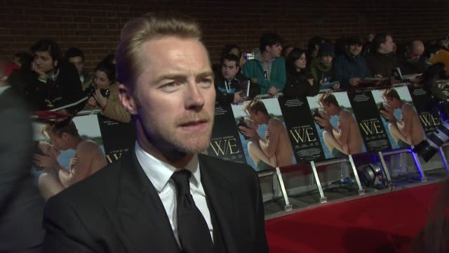 ronan keating w.e. uk premiere at odeon kensington on january 11, 2012 in london, england - ronan keating stock videos & royalty-free footage