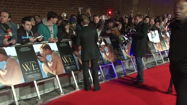 ronan keating w.e. uk premiere at odeon kensington on january 11, 2012 in london, england - ローナン・キーティング点の映像素材/bロール