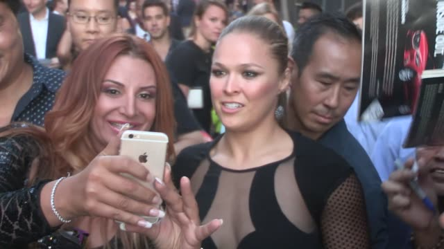 vídeos y material grabado en eventos de stock de ronda rousey annmaria de mars at the espys after party in la celebrity sightings on july 15 2015 in los angeles california - premios espy