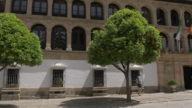 ronda town hall (ayuntamiento de ronda) in plaza duquesa de parcent, ronda, andalucia, spain, europe - government building stock videos & royalty-free footage