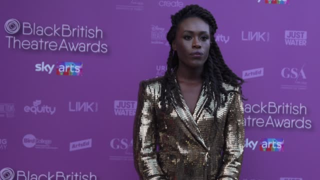 ronke adekoluejo during the black british theatre awards 2020 at the young vic on october 10, 2020 in london, england. - award stock videos & royalty-free footage