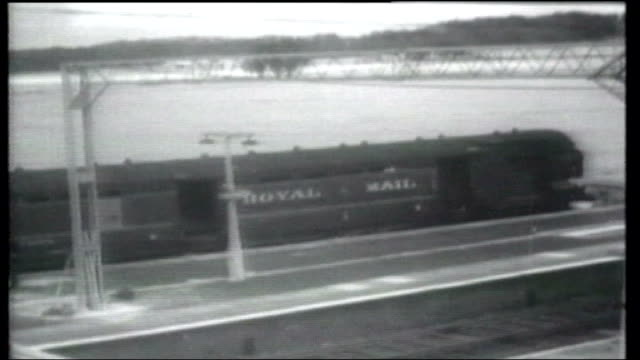 ronnie biggs may be released on parole next year; tx 8.8.1963 england: buckinghamshire; cheddington: ext b/w archive footage of signal box at station... - signal box stock videos & royalty-free footage