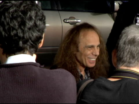 ronnie james dio at the 'tenacious d in the pick of destiny' premiere arrivals at grauman's chinese theatre in hollywood, california on november 9,... - tenacious d stock videos & royalty-free footage