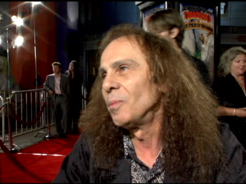 ronnie james dio on being in the film and passing the torch to jack black at the 'tenacious d in the pick of destiny' premiere arrivals at grauman's... - tenacious d stock videos & royalty-free footage