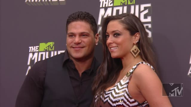 ronnie ortiz-magro at 2013 mtv movie awards - arrivals 4/14/2013 in culver city, ca. - mtvムービー&tvアワード点の映像素材/bロール