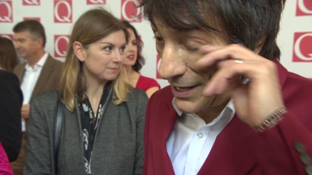 INTERVIEW Ronnie Wood on playing at Glastonbury being at the Q Awards at Q Awards 2013 at The Grosvenor House Hotel on October 21 2013 in London...