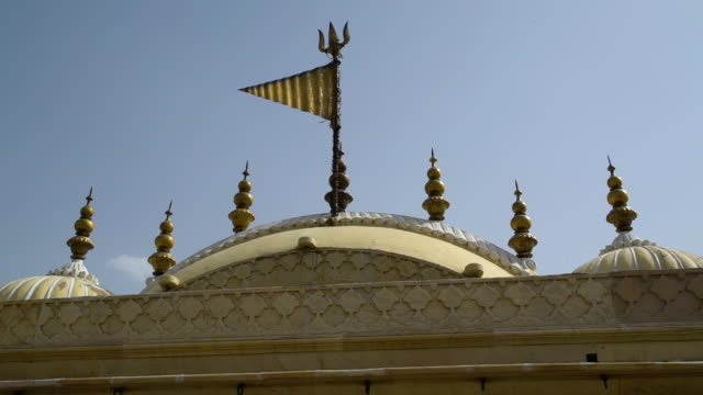 roof at the city palace of jaipur. - mughal empire stock videos and b-roll footage